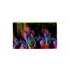 Fractal Colorful Background Cosmetic Bag (XS)