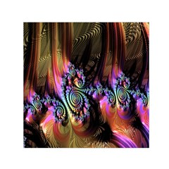 Fractal Colorful Background Small Satin Scarf (square)