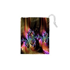 Fractal Colorful Background Drawstring Pouches (XS)