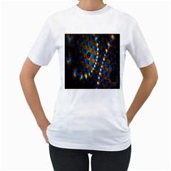 Fractal Art Digital Art Women s T-Shirt (White) (Two Sided)