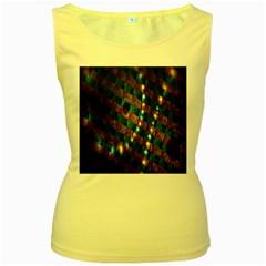 Fractal Art Digital Art Women s Yellow Tank Top