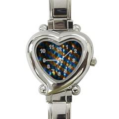 Fractal Art Digital Art Heart Italian Charm Watch