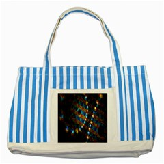 Fractal Art Digital Art Striped Blue Tote Bag