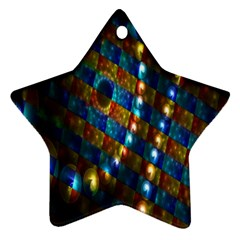 Fractal Art Digital Art Star Ornament (Two Sides)