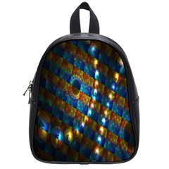 Fractal Art Digital Art School Bags (small)