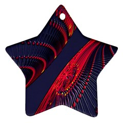 Fractal Art Digital Art Ornament (Star)
