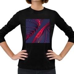 Fractal Art Digital Art Women s Long Sleeve Dark T Shirts