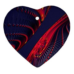 Fractal Art Digital Art Heart Ornament (two Sides)