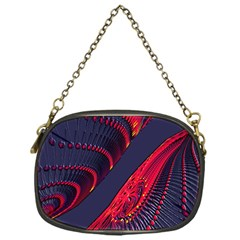 Fractal Art Digital Art Chain Purses (one Side)
