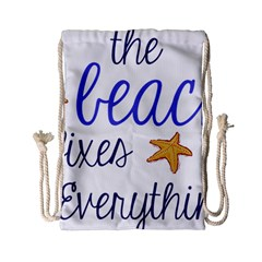 The Beach Fixes Everything Drawstring Bag (small)