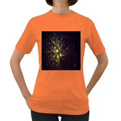 Fractal Flame Light Energy Women s Dark T Shirt