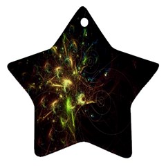 Fractal Flame Light Energy Star Ornament (two Sides)