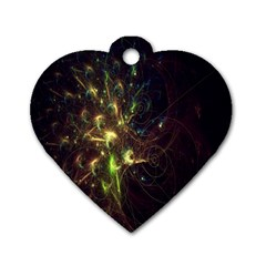 Fractal Flame Light Energy Dog Tag Heart (Two Sides)