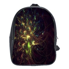 Fractal Flame Light Energy School Bags(large)