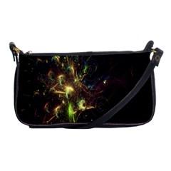Fractal Flame Light Energy Shoulder Clutch Bags