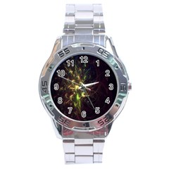 Fractal Flame Light Energy Stainless Steel Analogue Watch