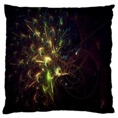 Fractal Flame Light Energy Large Cushion Case (two Sides)