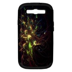 Fractal Flame Light Energy Samsung Galaxy S III Hardshell Case (PC+Silicone)