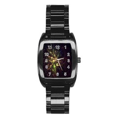 Fractal Flame Light Energy Stainless Steel Barrel Watch