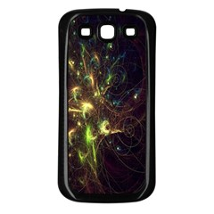 Fractal Flame Light Energy Samsung Galaxy S3 Back Case (Black)