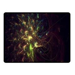 Fractal Flame Light Energy Double Sided Fleece Blanket (Small)