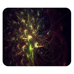 Fractal Flame Light Energy Double Sided Flano Blanket (small)