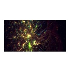 Fractal Flame Light Energy Satin Wrap