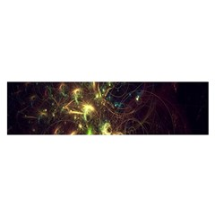 Fractal Flame Light Energy Satin Scarf (Oblong)