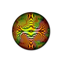 Fractals Ball About Abstract Rubber Round Coaster (4 pack)