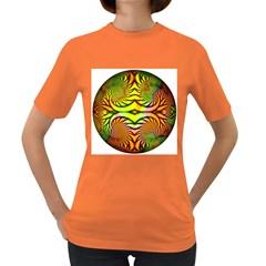 Fractals Ball About Abstract Women s Dark T Shirt