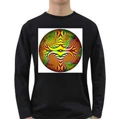 Fractals Ball About Abstract Long Sleeve Dark T Shirts