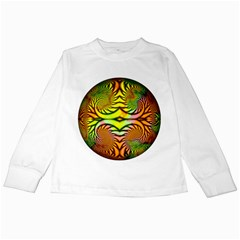 Fractals Ball About Abstract Kids Long Sleeve T Shirts