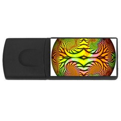 Fractals Ball About Abstract Usb Flash Drive Rectangular (4 Gb)