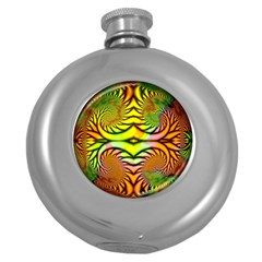 Fractals Ball About Abstract Round Hip Flask (5 oz)