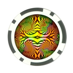 Fractals Ball About Abstract Poker Chip Card Guard