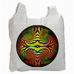 Fractals Ball About Abstract Recycle Bag (One Side)