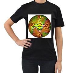 Fractals Ball About Abstract Women s T Shirt (black)