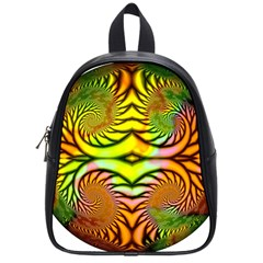 Fractals Ball About Abstract School Bags (Small)