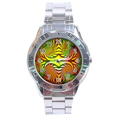 Fractals Ball About Abstract Stainless Steel Analogue Watch