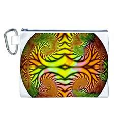 Fractals Ball About Abstract Canvas Cosmetic Bag (L)