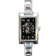 Fractal Sphere Steel 3d Structures Rectangle Italian Charm Watch
