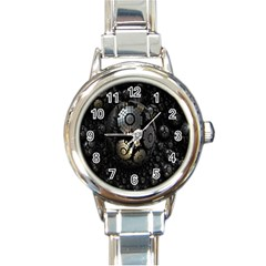 Fractal Sphere Steel 3d Structures Round Italian Charm Watch