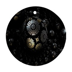Fractal Sphere Steel 3d Structures Ornament (Round)