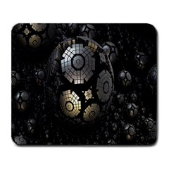 Fractal Sphere Steel 3d Structures Large Mousepads