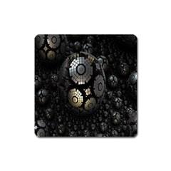 Fractal Sphere Steel 3d Structures Square Magnet