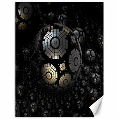 Fractal Sphere Steel 3d Structures Canvas 18  x 24