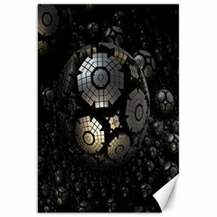Fractal Sphere Steel 3d Structures Canvas 20  x 30