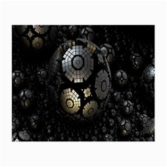 Fractal Sphere Steel 3d Structures Small Glasses Cloth (2-Side)