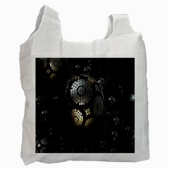 Fractal Sphere Steel 3d Structures Recycle Bag (One Side)