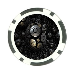 Fractal Sphere Steel 3d Structures Poker Chip Card Guard (10 pack)